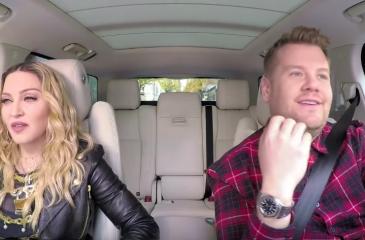 """Madonna hace """"twerking"""" durante su Carpool Karaoke"""