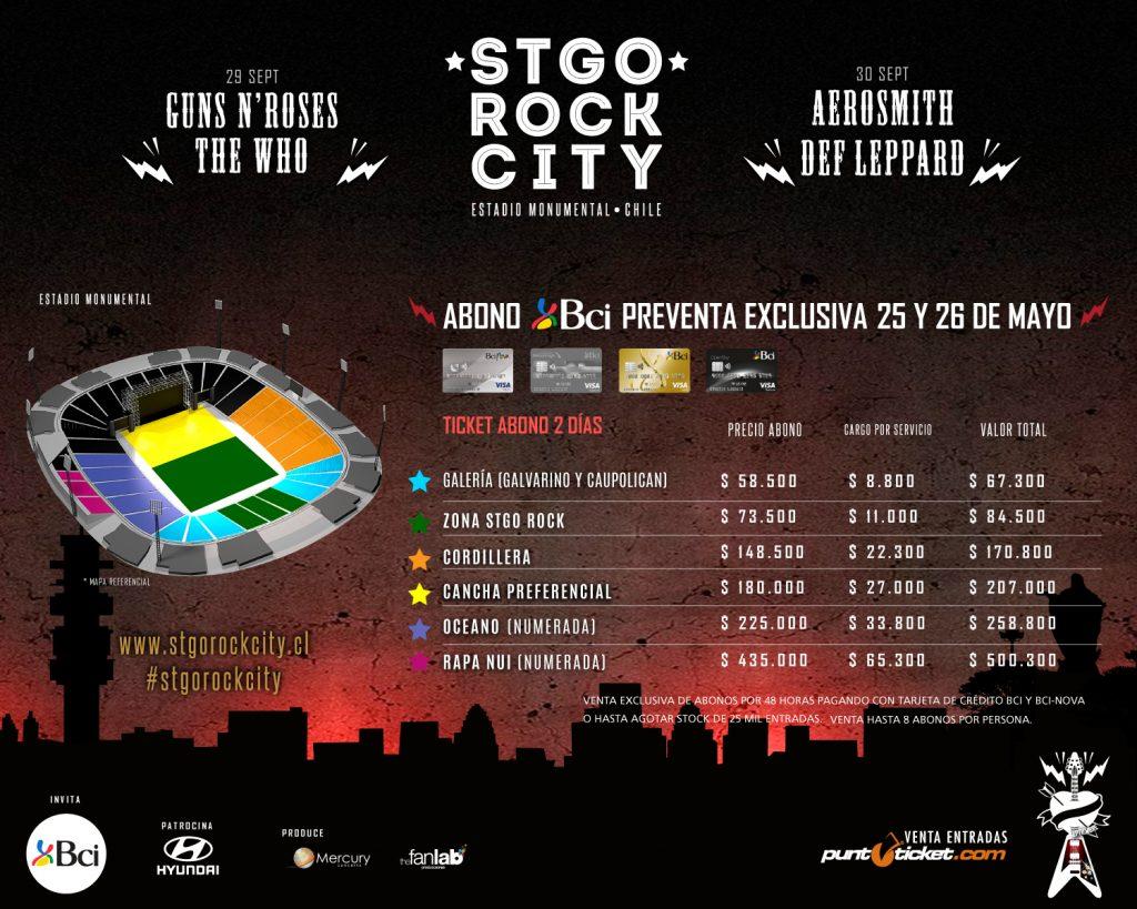 Despacha 34 mil tickets en su preventa — Stgo Rock City