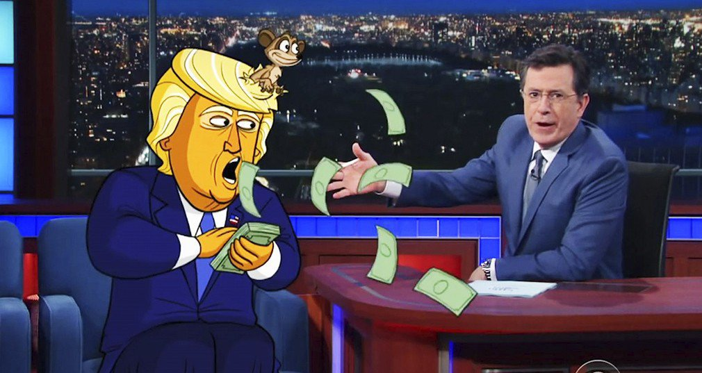 Stephen Colbert producirá una serie animada de Donald Trump