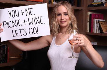 Jennifer Lawrence está buscando un acompañante para tomar vino