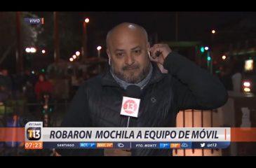 Roban a equipo de prensa de Canal 13 en plena transmisión en vivo
