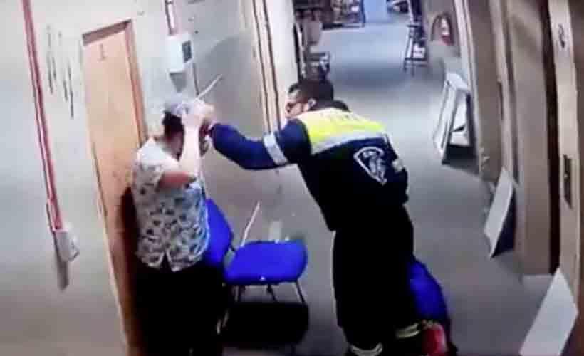 Formalizan a paramédico que golpeó a su pareja embarazada