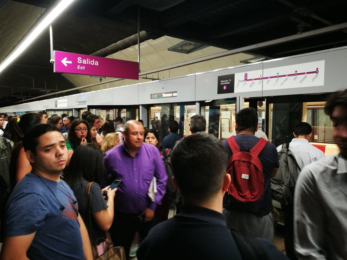 Suspenden paradas en todas las combinaciones de la Línea 6 del Metro