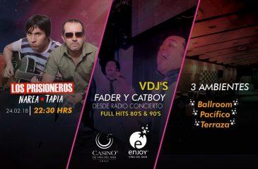 DJ Fader y Catboy y los ex Prisioneros en el Enjoy de Viña del Mar