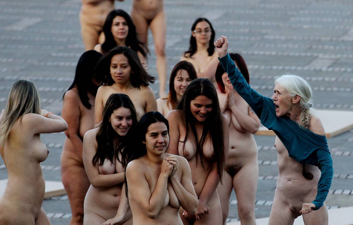 Nude hot groups of people