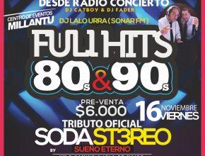 "Fiesta ""Full Hits"" en Centro de Eventos Millantú"