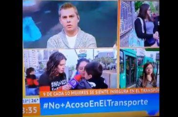 Transeúnte arremetió contra Paty Maldonado en pleno despacho de Mucho Gusto