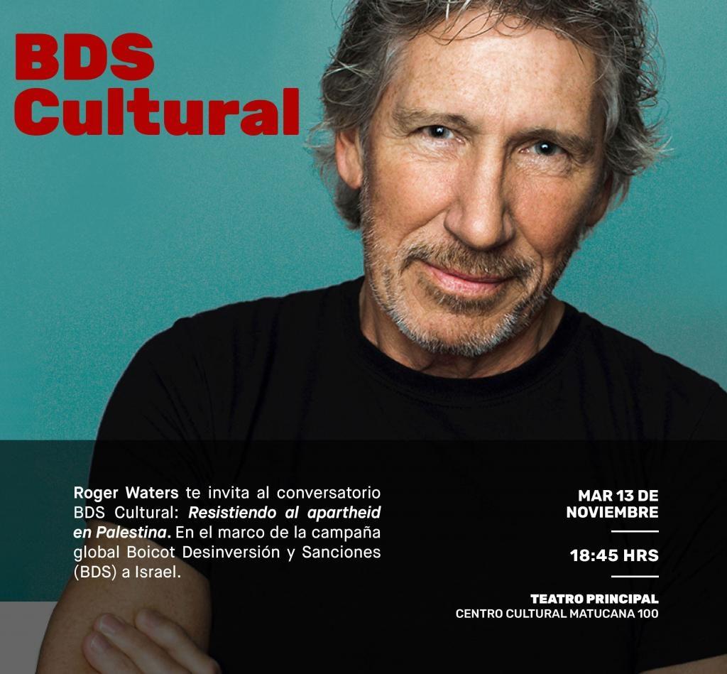 Chile: Roger Waters ofrecerá charla en Matucana 100 sobre la causa palestina