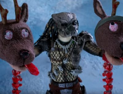 Lanzan sangriento corto navideño de Depredador