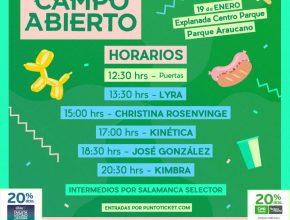 Festival Campo Abierto en Parque Araucano de Las Condes