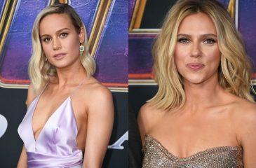Scarlett Johansson y Brie Larson lucieron las Gemas del Infinito en la premiere de Endgame