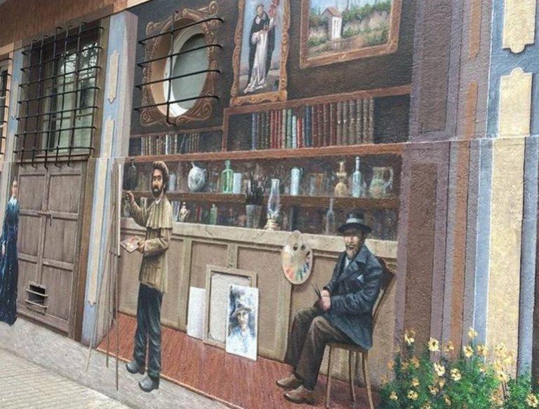 Borrado de icónico mural en Lastarria generó indignación en redes sociales