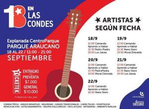 18 en Las Condes programa