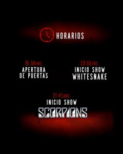 horarios scorpions