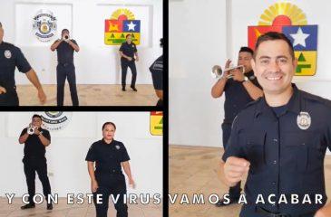 Policías mariachi coronavirus