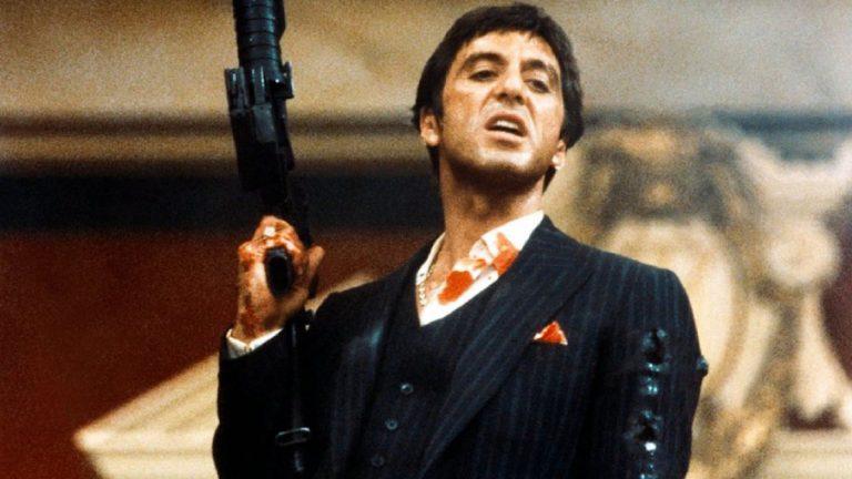 Nueva versión Tony Montana Al Pacino Scarface Diseñador peli película Propulsor asiento silla