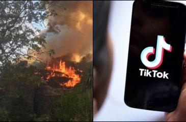 Incendio forestal tiktok México