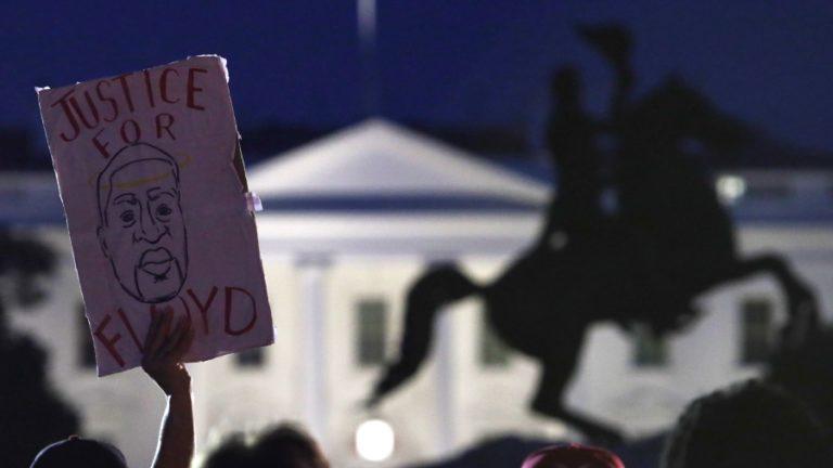 Trump protestas casa blanca george floyd