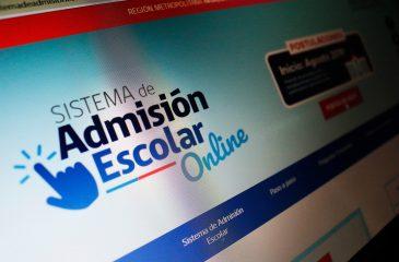 Sistema de admisión escolar web