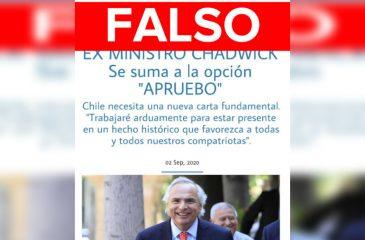 FAKE News Chadwick noticia falsa web