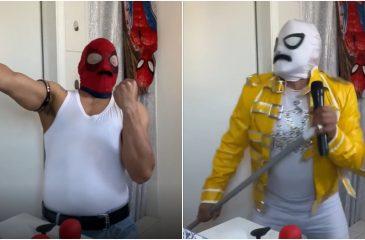 Sensual Spiderman Freddie Mercury