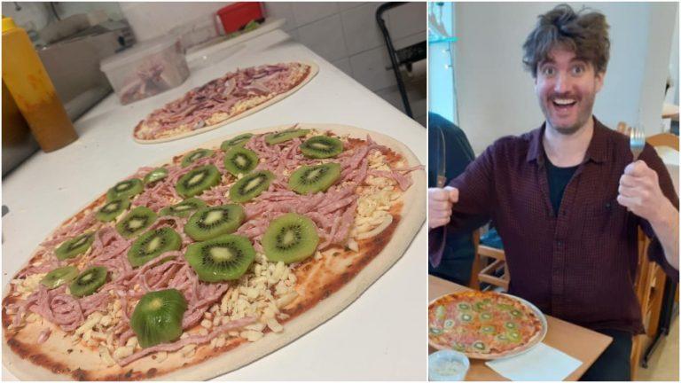 Pizza con Kiwi web