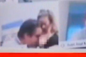 diputado argentino besando la teta