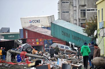 Containers Hurled Aground By The Tsunami