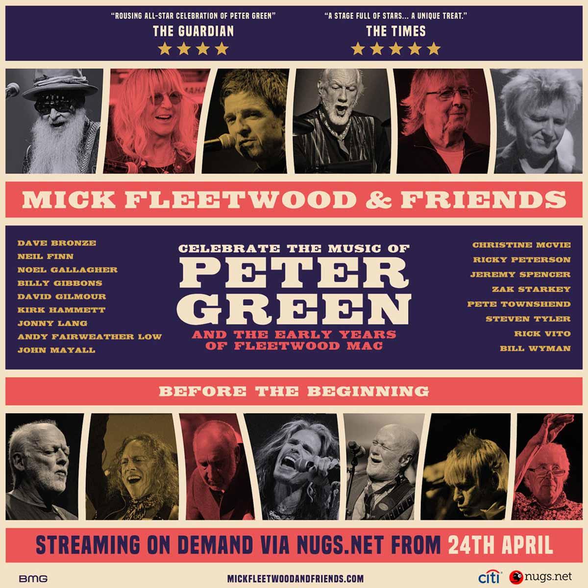 Mick Fleetwood & Friends se transmitirá en streaming