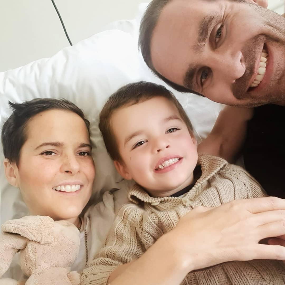 Javiera Suárez, Su Hijo Pedro Milagros Y Su Esposo Cristián Arriagada