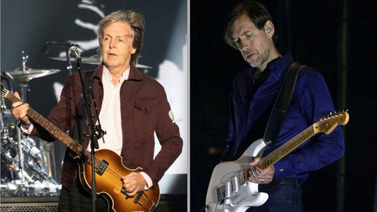 Paul McCartney Ed OBrien Slidin