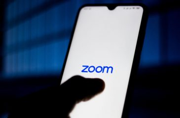 In This Photo Illustration Zoom Meetings Logo Is Seen