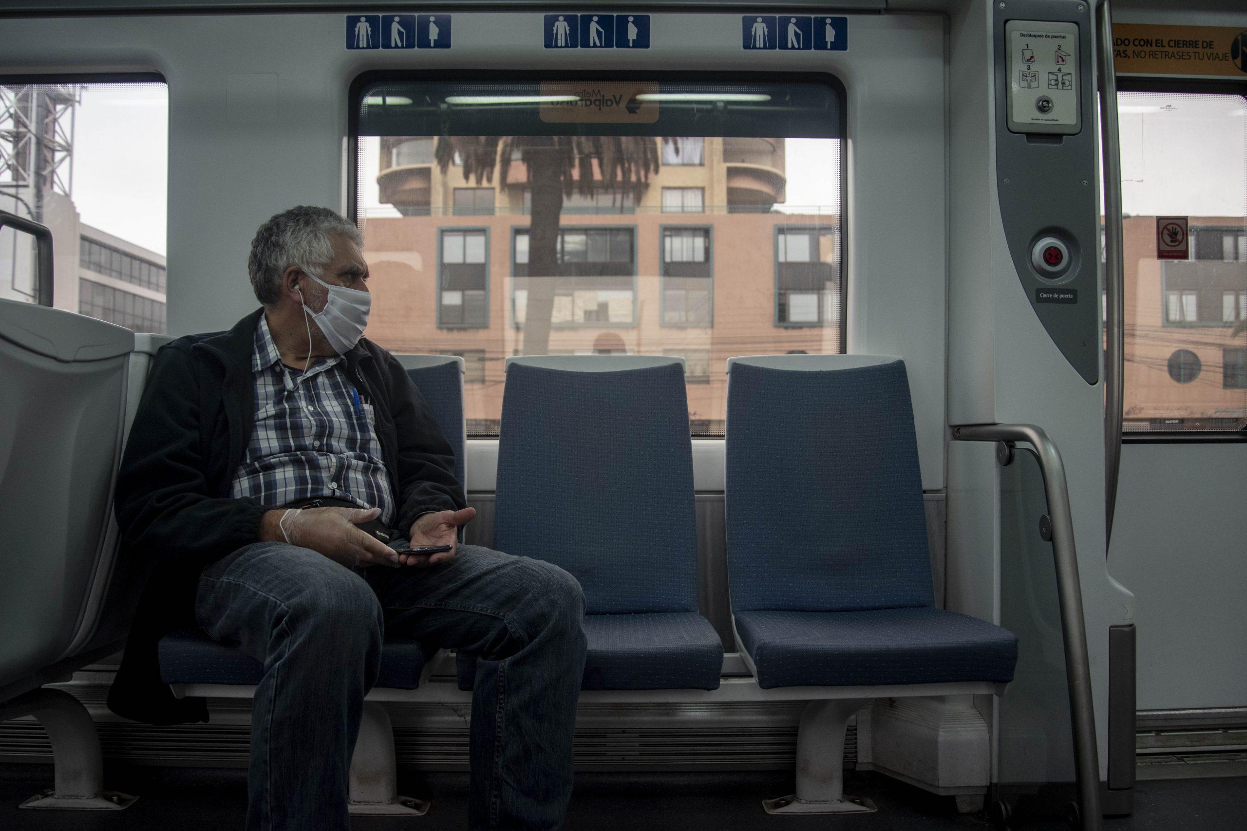 """VI""""A DEL MAR: Metro Tren En El Primer Dia De Uso Obligatorio De Mascarillas En El Transporte Publico"""