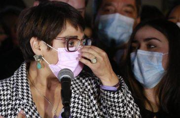 Karina Oliva Tras La Derrota Ante Claudio Orrego