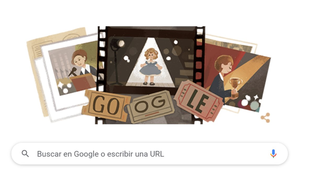Shirley Temple Doodle Google