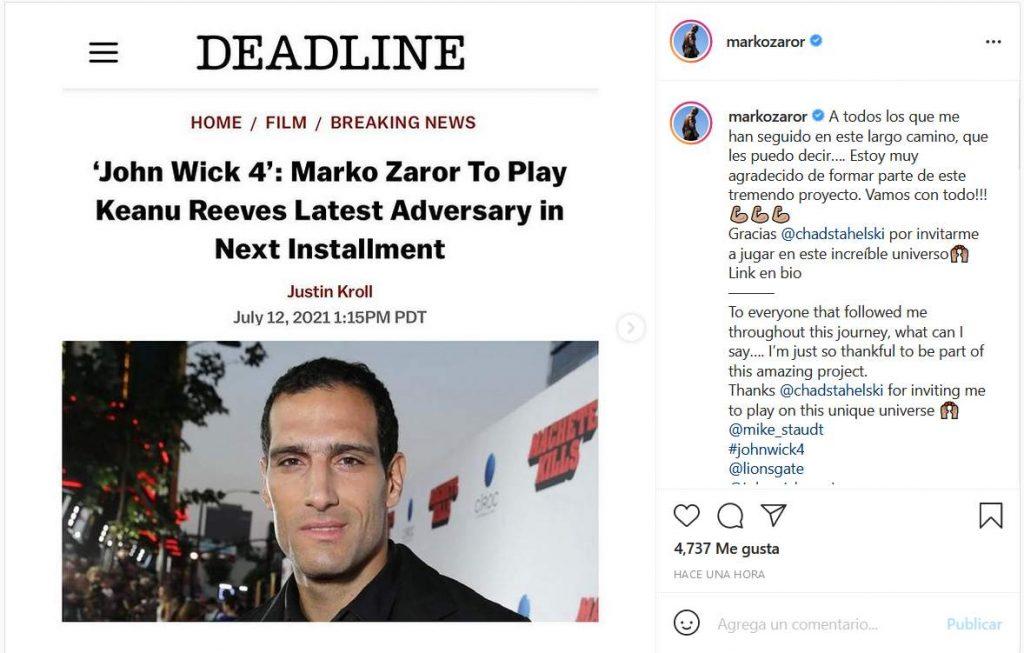 Marko Zaror Instagram