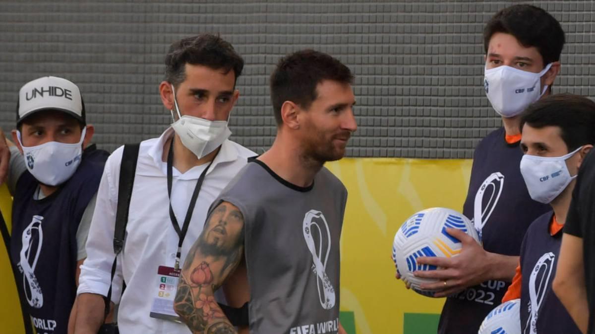 Partido Brasil Argentina Lionel Messi