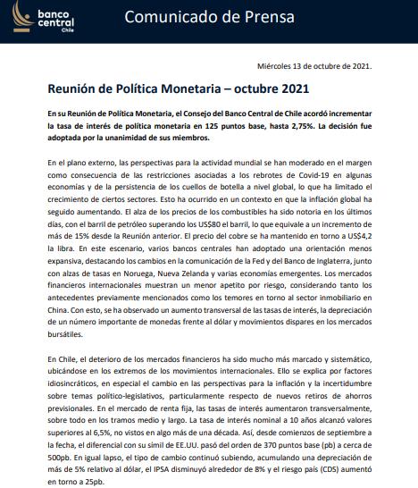 Banco Central Tasa De Interés