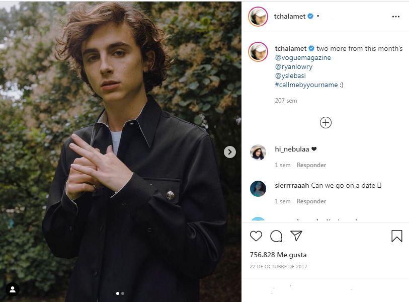 Timothée Chalamet Instagram